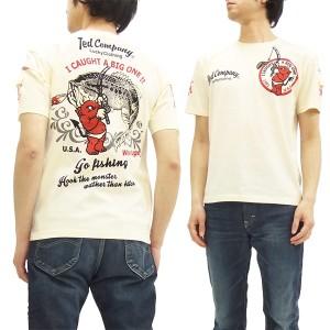 テッドマン Tシャツ TDSS-445 TEDMAN バス釣り柄 エフ商会 メンズ 半袖tee オフ白 新品
