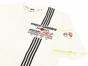 カミナリ Tシャツ KMT-116 日雷航空 エフ商会 メンズ 半袖tee オフ白 新品