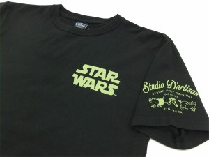 ステュディオ・ダルチザン Tシャツ SW-004 スターウォーズ ヨーダ メンズ 半袖tee ブラック 新品