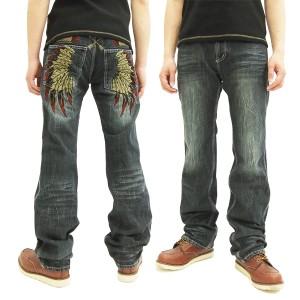 インディアンモトサイクル デニムパンツ IMBL-603 羽根刺繍 メンズ ジーンズ インディゴ 新品
