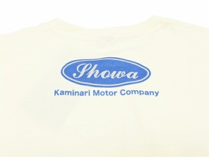 カミナリ Tシャツ KMT-136 モーターカンパニー 旧車柄 エフ商会 メンズ 半袖tee オフ白 新品