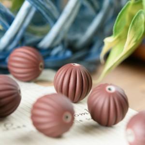 8a5daee424835 かぼちゃ型 ビーズ 茶色 ブラウン 10粒 ネックレス ブレスレット パーツ ハンドメイド 材料 アクセサリーパーツ