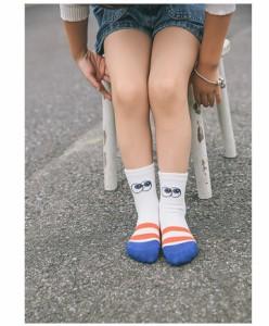 靴下 ソックス キッズ 女の子 男の子 クルーソックス 子供靴下 キッズソックス カジュアル 配色 イラスト
