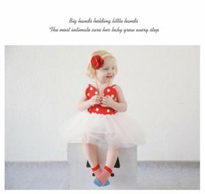 子供用 靴下 クルーソックス くるぶしソックス 滑り止め付き 短い 短め ボーダー 花柄 フラワー 可愛い かわいい 子