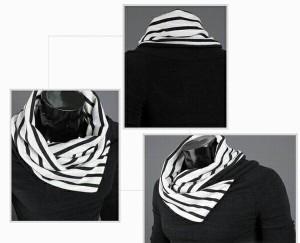 Men's 重ね着風 タートルネックセーター きれいめ オシャレ アウター ストリート ファッション アウターウ