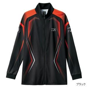 ロングスリーブメッシュシャツ DE-75008 XL ブラック
