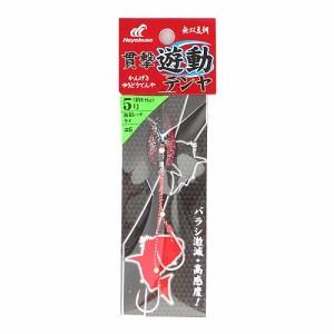 無双真鯛 貫撃遊動テンヤ SE105 5号 6(海老レッドラメ)【ゆうパケット】