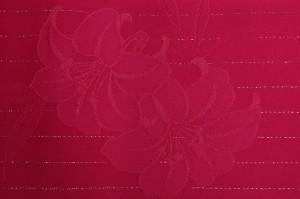 半幅帯京都・西陣日本製ラメ柄入りシンプル無地浴衣帯ワイン百合レディース女性用
