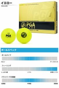 PGA TOUR-ピージーエーツアー- ハイパフォーマンス 3ピース ゴルフボール 1ダース 12球入り 【ゴルフボール