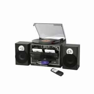 ミムゴ ダブルカセットダビングプレーヤー TCD-389W ブラック カセットプレーヤー CD レコード ラジオ(代引不可)【送料無料】