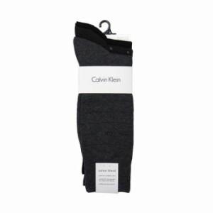 Calvin Klein ソックス A91179 3足セット color98 ck 靴下 ハイソックス ブラック系 無地 黒 メンズ 男性用【送料無料】