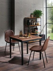 エヴァンス チェアシェル型 2個組 ダイニングチェア 椅子 イス カフェチェア 食卓イス インダストリアル(代引不可)【送料無料】