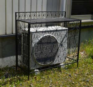 エアコン 室外機 カバー フラワー 日よけカバー 室外機ラック エアコンラック エアコンカバー 収納庫 収納 エクステリア DIY(代引不可)【