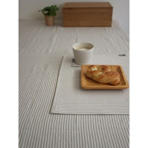 NEW DAY TABLE CLOTH 150×180 NATURAL STRIPE 生活雑貨(代引不可)【送料無料】