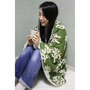Comfy Cozy ボアブランケット ツリー グリーン Lサイズ(代引不可)【送料無料】