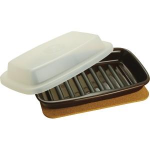 マイクロウェーブヒートプレート キッチンホルダー付 クリアホワイト ブラウン 洋陶器 洋陶 雑貨セット MW‐111(代引不可)