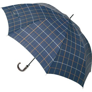 ケンショウ アベ ケンショウ アベ大判70 cm 先染格子ジャンプ傘 雨具 長傘 紳士長傘 OAB-5000J(代引不可)