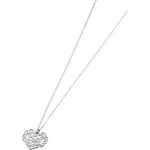 プライベートレーベル レーシーハートネックレス シルバー 装身具 アクセサリー ネックレス 410-1300-04(代引不可)