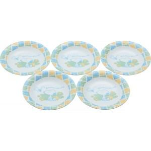 スヌーピー ピクニックスヌーピー パン皿5枚セット 洋陶器 洋陶皿 中皿セット DSP‐001(代引不可)