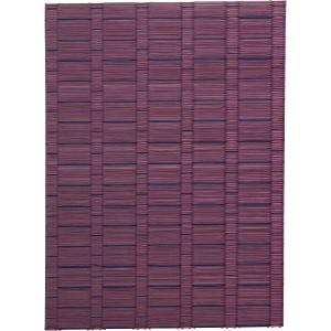 い草ティーマット同色2枚組(紬) パープル 繊維雑貨 繊維雑貨 テ-ブルセンタ-(代引不可)