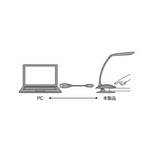 ミヨシ USBライト クリップライトタイプ 14LED ホワイト USL-04/WH USL-04/WH 家電 ミヨシ