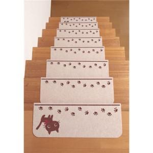 サンコー 折り曲げ付階段マットネコ(15枚入り)