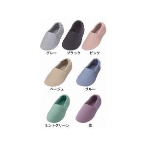 介護靴 室内用 エスパド 2004 両足 徳武産業 あゆみシリーズ / L グレー