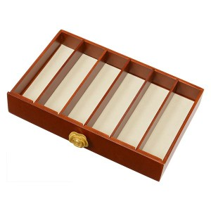 大容量ジュエリーボックス/ジュエリーケース 木製 コンパクト MUD-6111 ブラウン 【代引不可】
