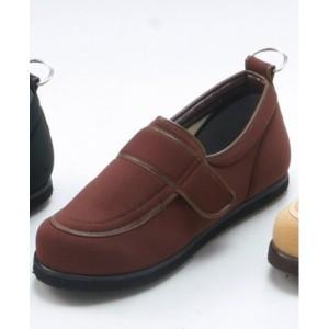 介護靴/リハビリシューズ ブラウン LK-1(外履き) 【片足22cm】 3E 左右同形状 手洗い可/撥水 [歩行補助用品] 日本製