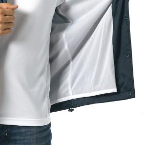 撥水防風加工裏地起毛付コーチジャケット ホワイト M
