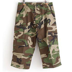 アメリカ軍 BDU クロップドカーゴパンツ/迷彩服パンツ 【Sサイズ】 リップストップ ウッドランド 【レプリカ】