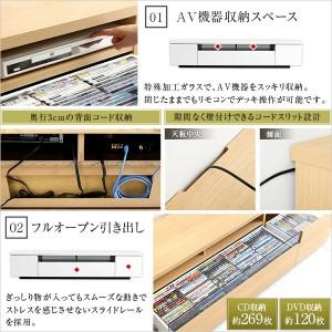 シンプルで美しいスタイリッシュなテレビ台(テレビボード) 木製 幅180cm 日本製・完成品 |luminos-ルミノス-(代引き不可)【ポイント10