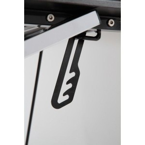 タブレッ対応ガラスPCデスク L型 幅150cm 昇降式タブレットスタンド/スライド式キーボードテーブル付き【代引不可】