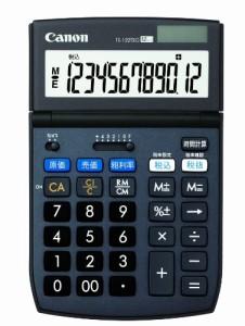 Canon 電卓 TS-122TSG SOB 12桁 グリーン購入法適合 商売計算機能付 時間計算付 税計算可 チルト式卓上タイプ