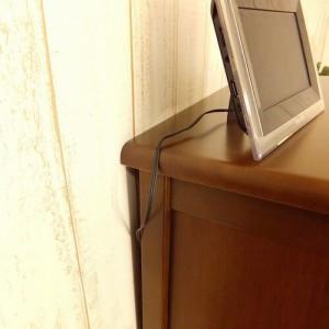 【チェリオ】キャビネット 幅60cm(ラバーウッド・ブラウン)(代引不可)【送料無料】