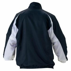 ZETT(ゼット) 野球 長袖/半袖切り替え式ハーフジップジャンパー BOV515 2911 ネイビー×ホワイト O