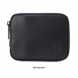 フレッドペリー FRED PERRY 二つ折り財布 F19829 ラウンドジップウォレット 札入れ 束入れ ユニセックス レザー