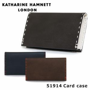 キャサリンハムネット カードケース 490-51914 KATHARINE HAMNETT カラーテーラード 名刺入れ メンズ 革 レザー
