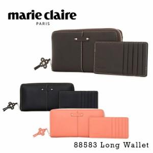 マリクレール marie claire 長財布 88583 モイスト ラウンドファスナー 財布 カードケース レディース レザー