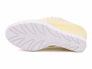 スニーカー レディース ウェッジソール ぺたんこ 歩きやすい ラインストーン付き 厚底 プラットフォーム 美脚 フェミニンカフェ Feminine