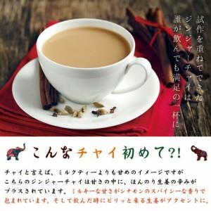 【自然の館】冬季限定 ジンジャーチャイ(粉末) 約10杯分 牛乳がなくても作れる  高知県生姜使用 紅茶 生姜パウダー 送料無料