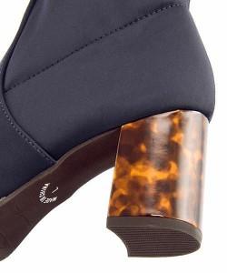 パトリックコックス ショートブーツ 太ヒール レディース 限定モデル ストレッチ 美脚 PATRICK COX 679014 ネイビー