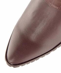 パトリックコックス ショートブーツ ローヒール レディース 限定モデル サイドジップ 美脚 PATRICK COX 679011 ダークブラウン