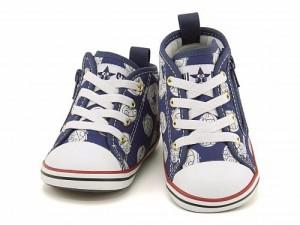 コンバース スニーカー 女の子 男の子 キッズ ベビー 子供靴 ベビー オールスター N ドラえもん DT Z EE converse 7CK433 ネイビー
