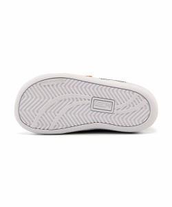 プーマ スニーカー 女の子 男の子 キッズ ベビー 子供靴 SMASH DENIM 2 V INF PUMA 363996 プーマホワイト/ブラック