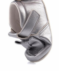 ベビーシューズ スニーカー 女の子 男の子 キッズ ベビー 子供靴 リボン 軽量 アンヨ Anyo 81846 シルバー