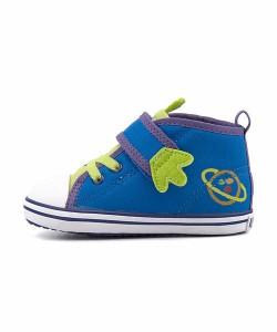 コンバース スニーカー 女の子 男の子 キッズ ベビー 子供靴 BABY ALL STAR N TOY STORY AE V-1 converse 7CL111 ブルー/グリーン