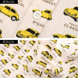 CavariA キャバリア 国産 ヴィンテージカー デザイン 長袖シャツ 全2色 シャツ メンズ トップス 車柄 日本製柄シャツ カジュアル hq
