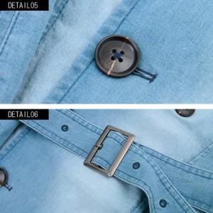 CavariA キャバリア ワイヤー入り ストレッチ デニム トレンチコート 全2色 メンズ デニム アウター ストレッチ 伸縮性 インディゴ