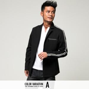 CavariA キャバリア サイドライン メッシュ ジャケット 全2色 メンズ テーラードジャケット 春アウター 羽織り ヒョウ柄 ビター系 oq